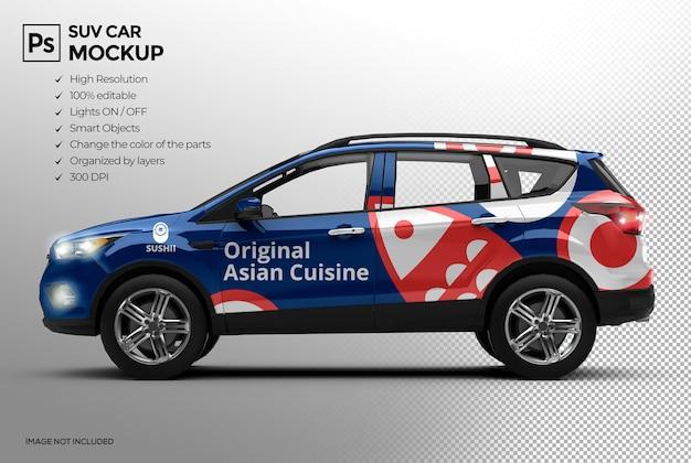 Realistic 3d car mockup presentations design