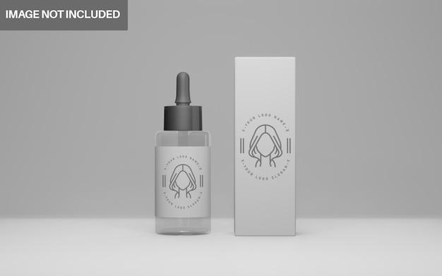 현실적인 3d 디자인 화장품 모형 세트