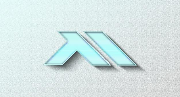 Реалистичный 3d макет логотипа на стене