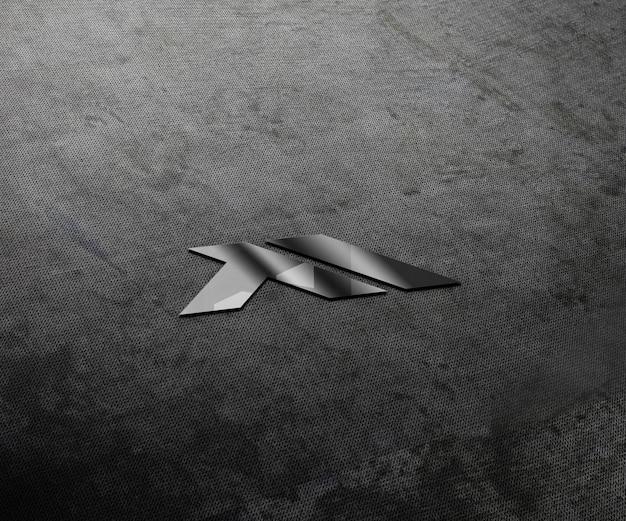 벽에 현실적인 3d 로고 모형