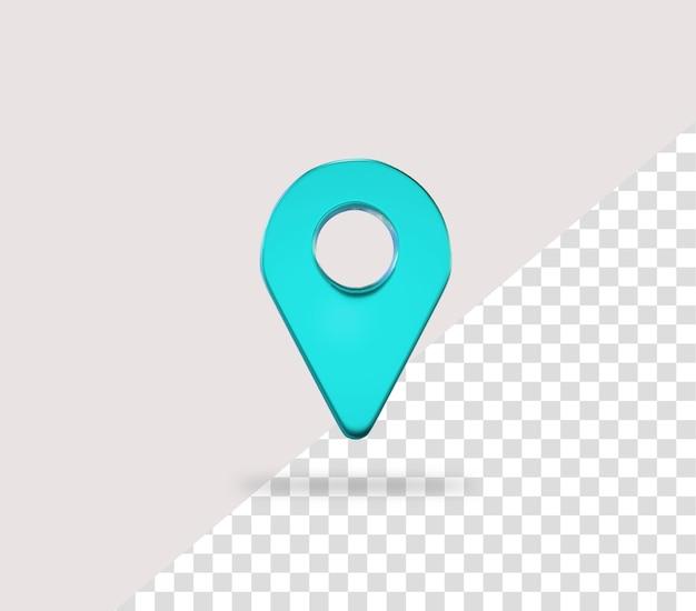 현실적인 3d 지도 핀 위치 아이콘