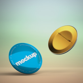 Realistic 3d pin mockup