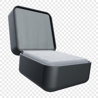 검은 색으로 현실적인 3d 링 상자