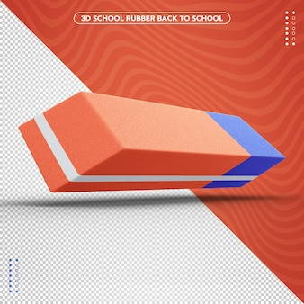 Realistic 3d rubber back to school