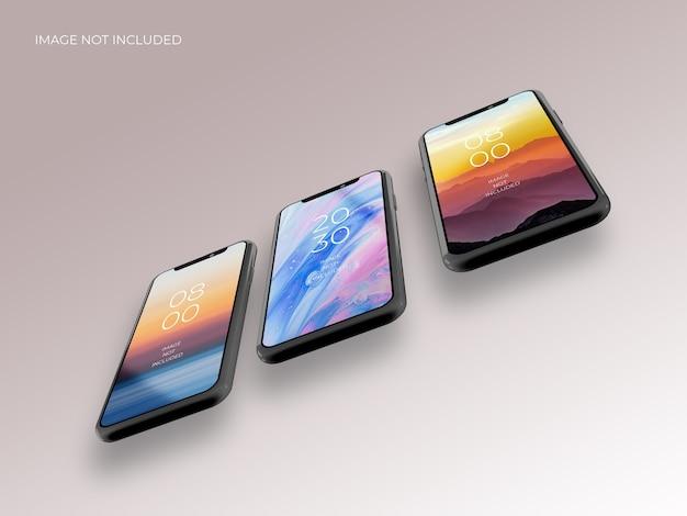 Realistic 3d smartphone mockup