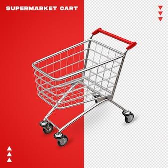 Realistic 3d supermarket cart