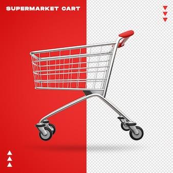 Реалистичная 3d тележка для супермаркета