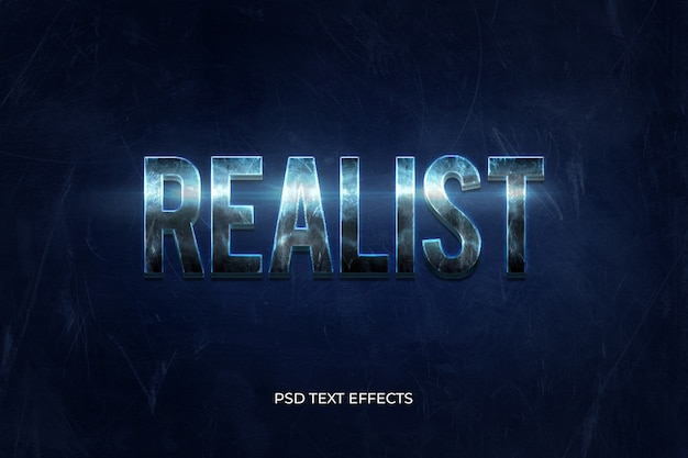 Realistic 3d text effects