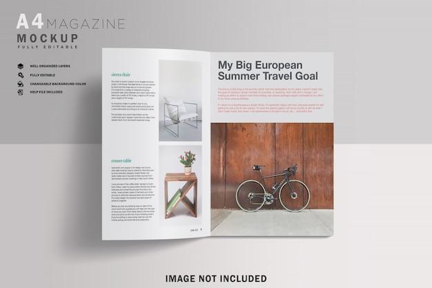 現実的なa4雑誌のモックアップ