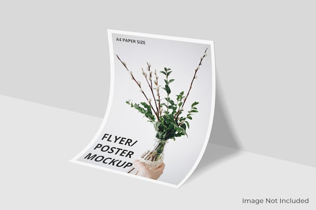 Realistic a4 poster mockup design