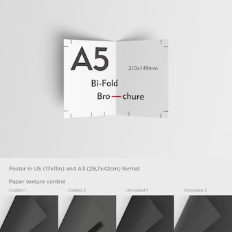 Realistic a5 brochure mock up