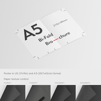 Realistic a5 flyer mock up