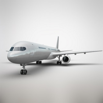 Realistic airplane presentation