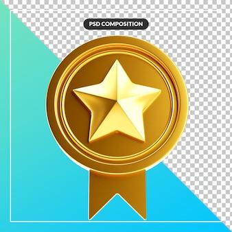Реалистичная и элегантная резная лента с золотой звездой