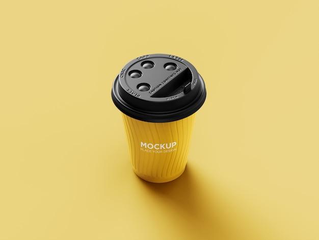 현실적인 각도보기 플라스틱 커피 컵 모형