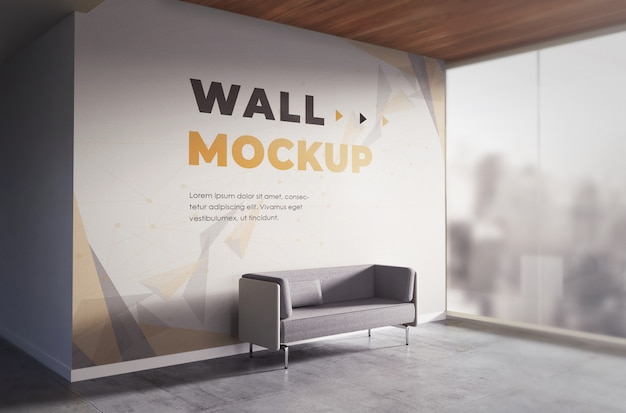 Realistic backdrop mockup office wall texture