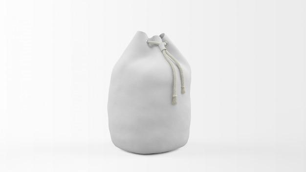 Realistic bag mockup isolated