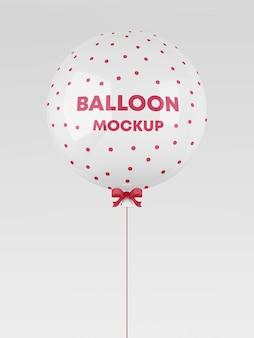 Realistic balloon mockup