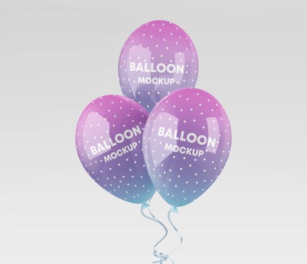 Realistic balloons mockup