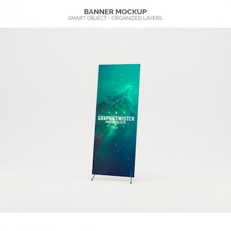 Realistic banner mock up Free Psd