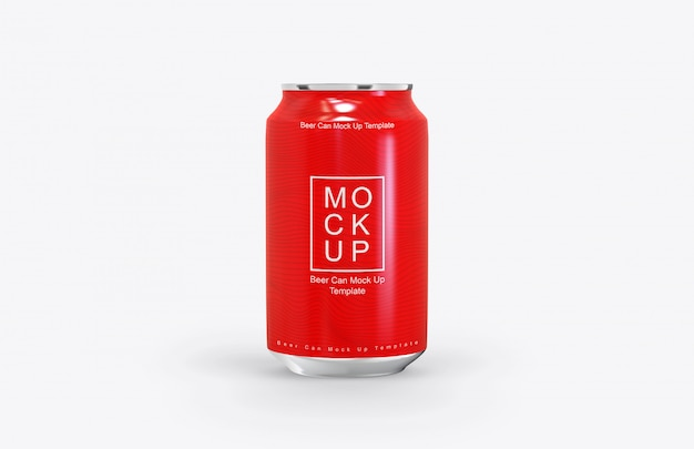 Realistic beer can mockup