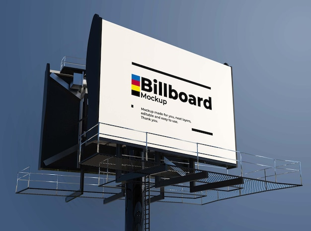 Реалистичный макет дизайна рекламного щита