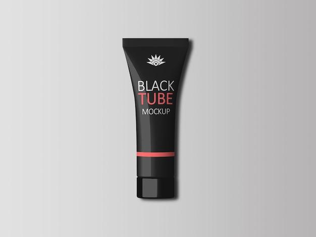 Реалистичный макет черной косметической трубки