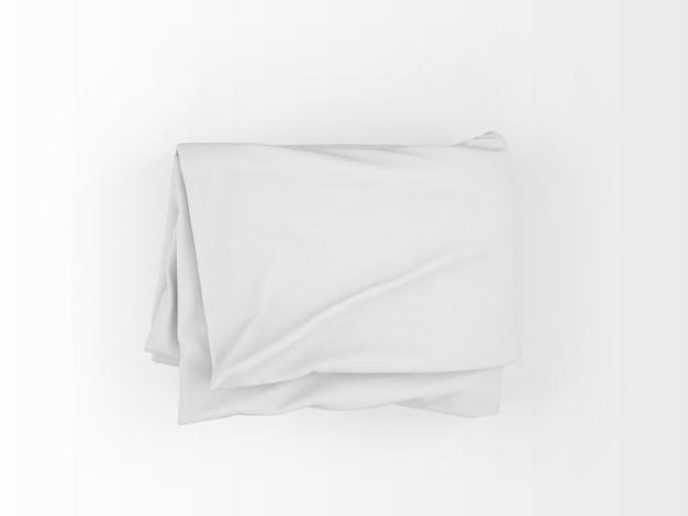 현실적인 빈 이불 흰색 절연