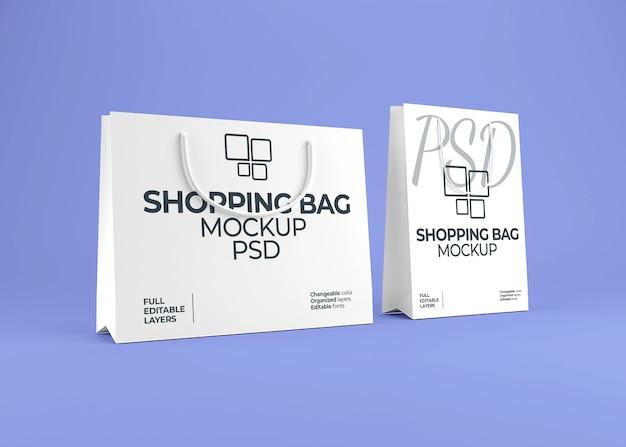 Реалистичный макет сумки для покупок из чистого листа бумаги