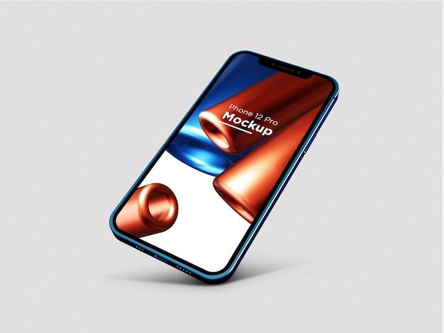 사실적인 파란색 iphone 12 pro 목업현실적인 파란색 iphone 12 pro 목업