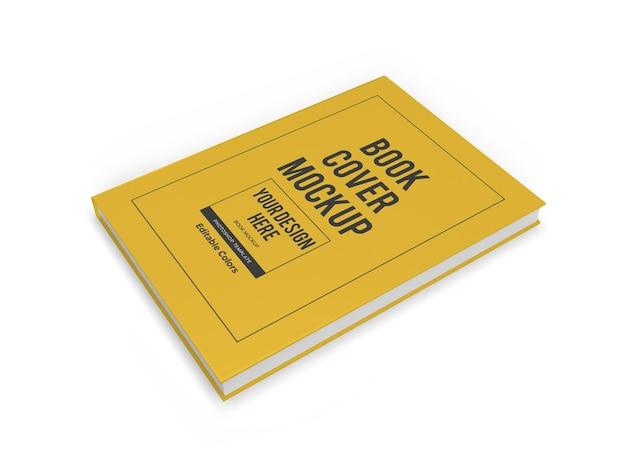 현실적인 책 표지 3d 이랑 템플릿 절연