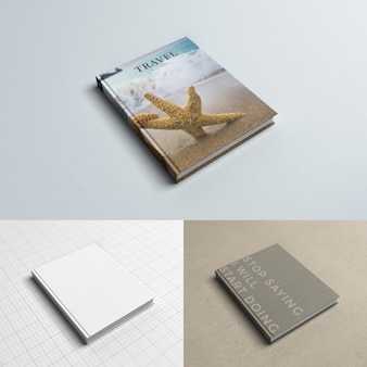 Realistic book cover mock up