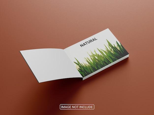 ビジネスのための現実的なブックカバーのモックアップデザイン