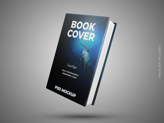 Realistic book cover mockup isolated