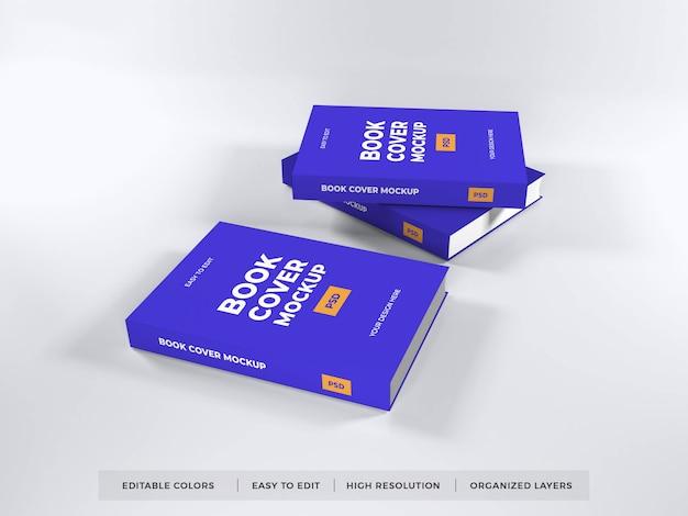 現実的な本の表紙のモックアップテンプレート