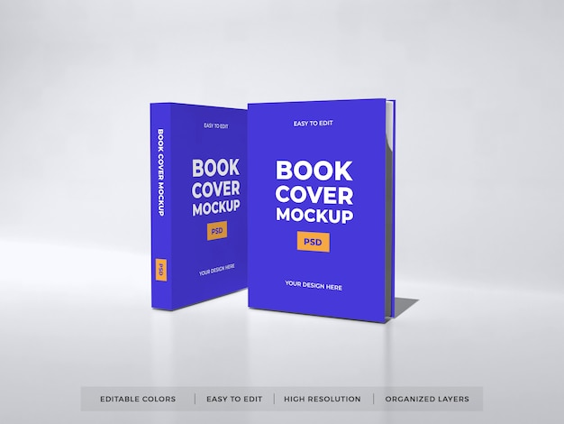 Realistic book cover mockup