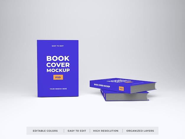 現実的なブックカバーのモックアップ