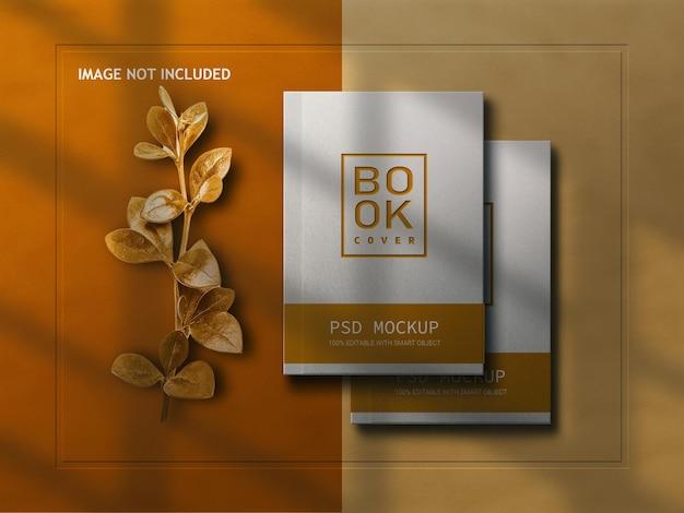 Реалистичная обложка книги с листьями
