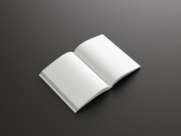 Реалистичный макет книги в твердом переплете
