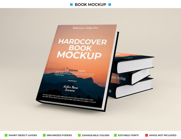 Реалистичный дизайн макета книги