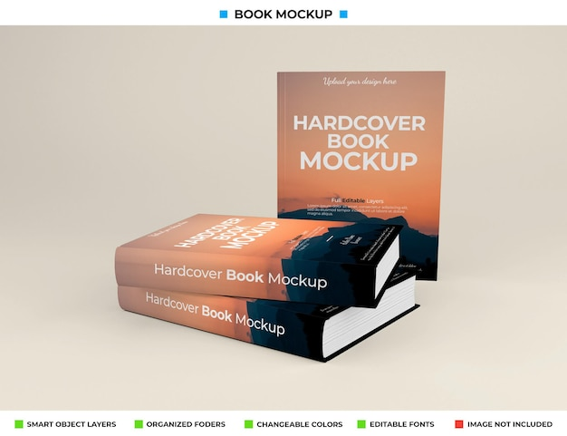 고립 된 현실적인 책 이랑 디자인