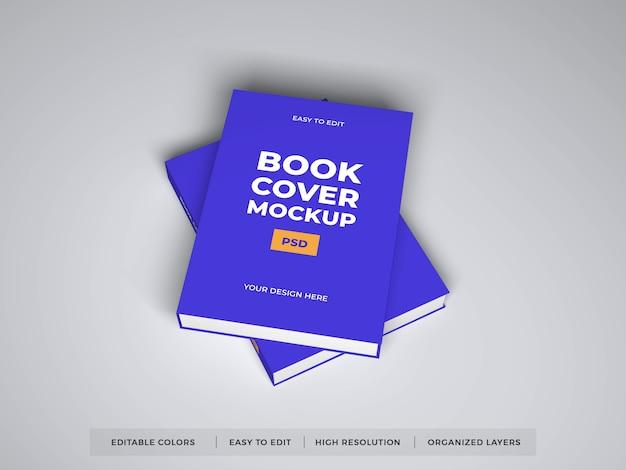現実的な本のカバーモックアップ