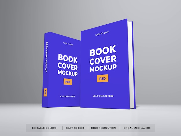 현실적인 책 표지 모형