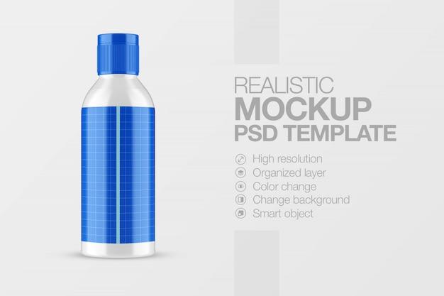 Realistic bottle mockup