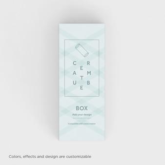 現実的なボックスはモックアップ