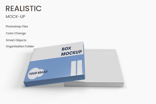 リアルなボックスパッケージのモックアップデザイン