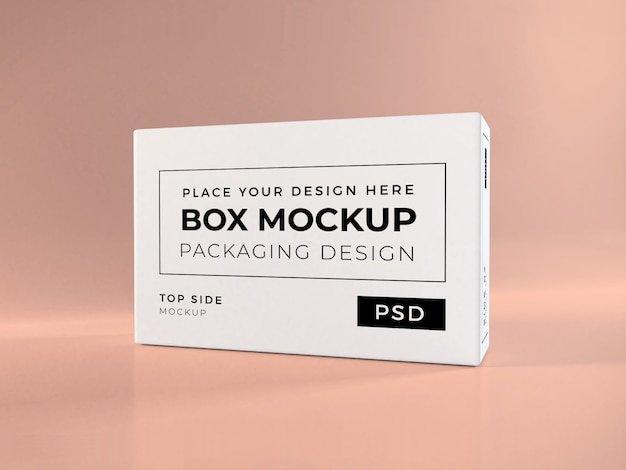 Realistic box packaging mockup