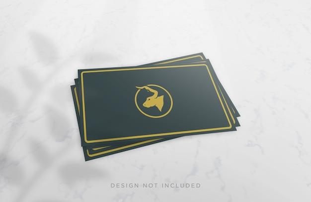 Реалистичный макет концепции визитной карточки