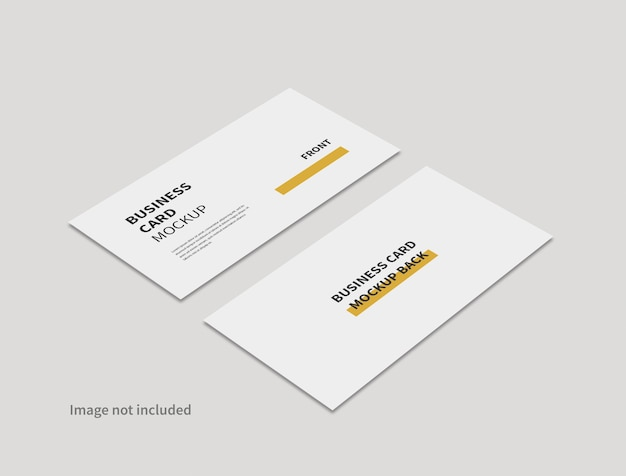 Realistic business card minimal mockup isolated
