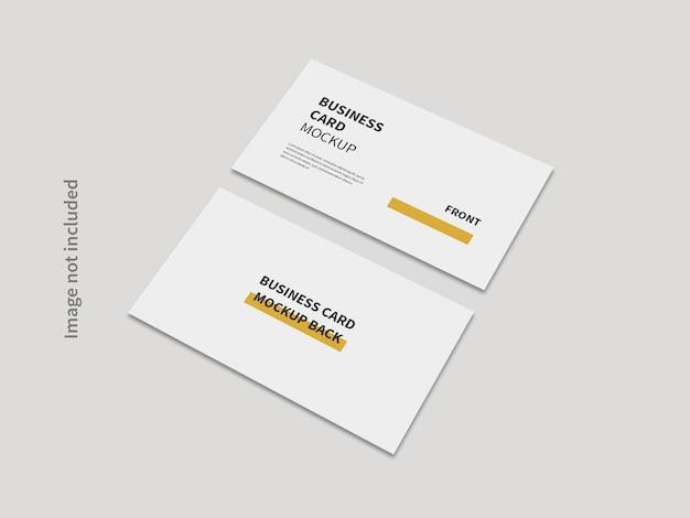 Realistic business card minimal mockup isolated